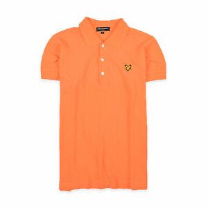 Lyle & Scott Herren Polo Poloshirt Shirt Classic GrM 100% Baumwolle Orange 97210