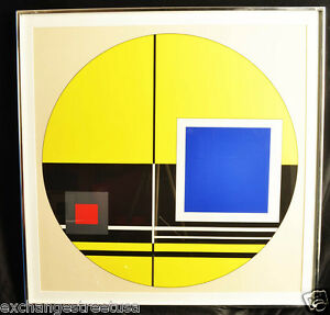 Jean-Albert Gorin Composition 1972 Geometric Abstract Print #11, Signed, Framed