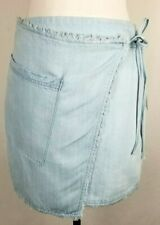 Women's Splendid Baby Blue Mini Jean Skirt 100% Cotton Size Small New