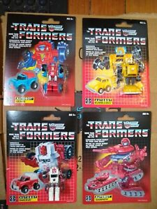 Transformers G1 Walmart Reissue x4 Bumblebee Warpath Gears Swerve MOC 2018
