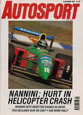 Autosport 18 Oct 1990 - Nannini unlikely to drive again, Donington , San Remo