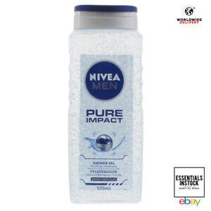 Nivea MEN Shower Gel Pure Impact Purifying Micro Particle Body Wash 500ml