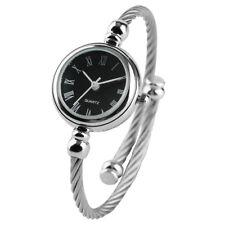 Fashion Women Quartz Bracelet Wrist Watch Silver Steel Wire Bangle Ladies Watch