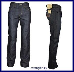 wrangler jeans da uomo pantaloni regular fit a gamba dritta vita alta svasati 44