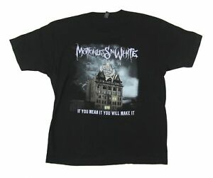 Motionless In White You Will Make It Fall Tour 2016 PA-CA Black T Shirt MIW