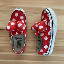 VANS Disney Minnie Mouse Polka Dot Bow Sneakers Shoes Size 2.5 Youth
