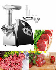 1400W Large Capacity Stainless Steel Electric Meat Grinder Mincer Sausage Maker