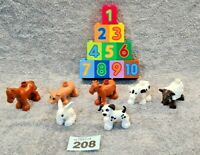 Lego Duplo Farm Petting Zoo Animals Bundle With 1-10 Learning Numbers