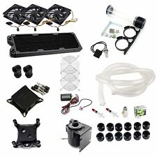 Water Cooling Kit 360mm Radiator CPU GPU Block 18W Pump 240 Reservoir Tubing