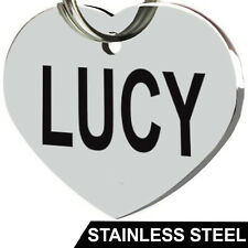 Stainless Steel Pet ID Tags Dog Tags Personalized Front and Back Engraving (Heart)
