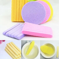 KE_ 12pcs Compressed Facial Cleaning Wash Puff Sponge Stick Face Cleansing Pad