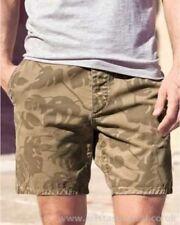 BNWT Mens Next cotton khaki leaf print shorts 32 Waist