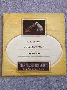 CLP 1115 TS Eliot Reads Four Quartets British Council Mono HMV LP