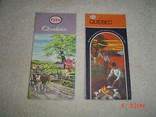 2 QUEBEC, ESSO.Road Maps, 1961 & 1969