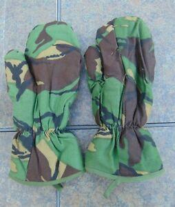 British DPM Camo Cold Weather Trigger Finger Mittens/Ski Gloves,Sz. L/XL,ex. cd.
