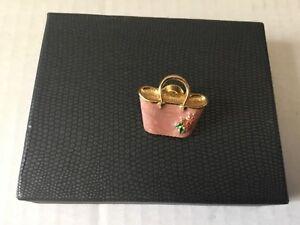 Avon Fashion Pink Handbag Pin          #68/1