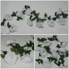 Flores secas y artificiales decorativas de color principal blanco para el hogar