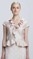 NWT Kay Unger Pink & Gold Plaid Top Jacket Blazer Size 10 Retail $250