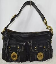 COACH Vachetta Black Leather Legacy Satchel Shoulderbag 10328