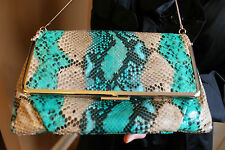 Kate Spade ULTRA LUXE Python Snakeskin Convertible Clutch Bag GORGEOUS!