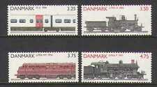 Denmark 1991 Trains/Steam Engines/Locomotives/Rail/Railways/Transport 4v n20262