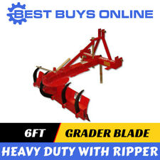 Grader Blade with ripper 6ft Heavy Duty 1.8M 3 point linkage 55HP Tractor PTO