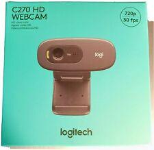 Logitech C270 HD Webcam 720p 30 FPS Video Calls For Windows And Mac NEW