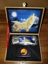 HOWLING WOLF WITH LIGHTER BOXED KNIFE