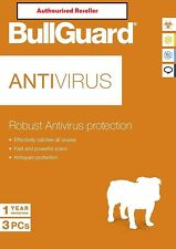 NEW Download Official BullGuard Robust Anti Virus 2018 1 Year 3 Users PC/ANDROID