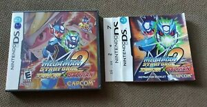 (NO Game) Mega Man Star Force 2  (Nintendo DS) Authentic PS2 Case & Manual Only