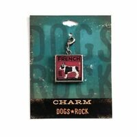 Dogs Rock French Bulldog Dog Charm with Lobster Clasp - Double-Sided
