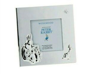 PETER RABBIT Photo Picture Frame Wedgwood Beatrix Potter Silver 18cmx18cm