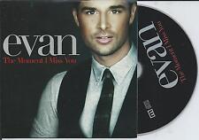 EVAN - The moment i miss you CD SINGLE 5TR CARDSLEEVE Europop 2006 SWEDEN