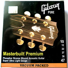 Gibson 10-47 Light Masterbuilt Phosphor Bronze Acoustic Guitar Strings SAG-MB10