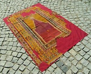 Fabulous Antique Awesome Primitive Collector's Piece Anatolian Fragment Kilim