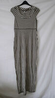 FIRETRAP COLD SHOULDER COTTON MAXI DRESS - BEIGE/BROWN - SIZE LARGE/14 TALL