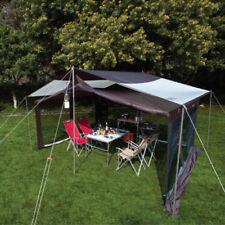 4 Pcs Camping Travel Canopy Tent Awning Pole Kit Iron Rod Frames