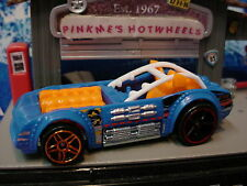 2015 DEMOLITION DERBY Design Ex PILEDRIVER∞Blue/Orange☆LOOSE Hot Wheels