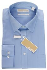Micheal Kors Slim Fit Solid Dress Shirt 35S0708  ( white,Blue,Laven )