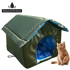 Cat House Heated Weatherproof Small Dog Pet Outdoor Warm Shelter Carrier