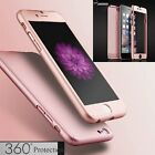 360° Full Hybrid Tempered Glass + Acrylic Hard Case Cover For Phone 6 6S Plus