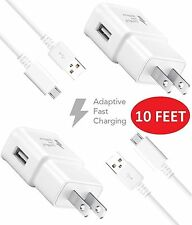 Samsung Galaxy S5 Charger (10 Feet) Micro Usb 2.0Cable Kit by TruWire {2 Fast.