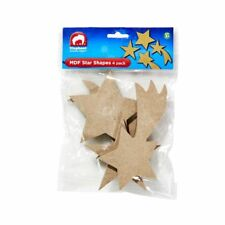 BRAND NEW ELC MDF Shapes Stars 4 Pack