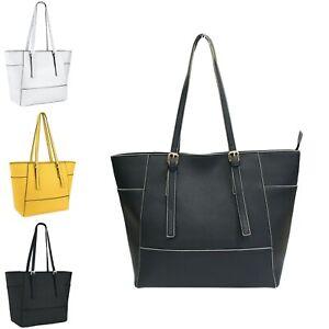 Large Womens Handbag Designer Ladies Shoulder Tote Faux Leather Work Bag Satchel