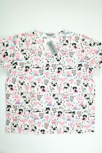 Women's Wear For Care FF Critter Scrub Top NEW! NWT