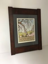Arts&Crafts Press Yoshiko Yamamoto Matted Framed Cherry Print Family Woodworks