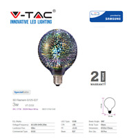Decorative Filament LED 3W 3D Globe Bulb E27 G125 by V-TAC