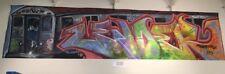 Original 1980's RARE Large Graffiti art on Canvas by LA Graff Legend Zender One