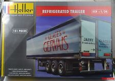 Heller 80776 1:24th scale Tri axle Refrigerated Trailer kit  Glaces Gervais