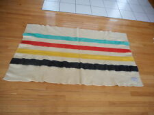Polar Star 100% wool Stripped Blanket Jc Penney Co Maybe Altered in Length AnB
